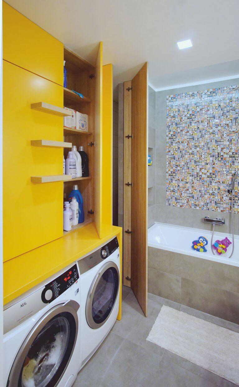 beépített szekrény mosógépnek