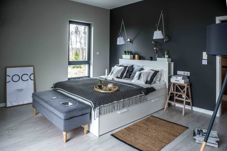 skandináv hálószoba