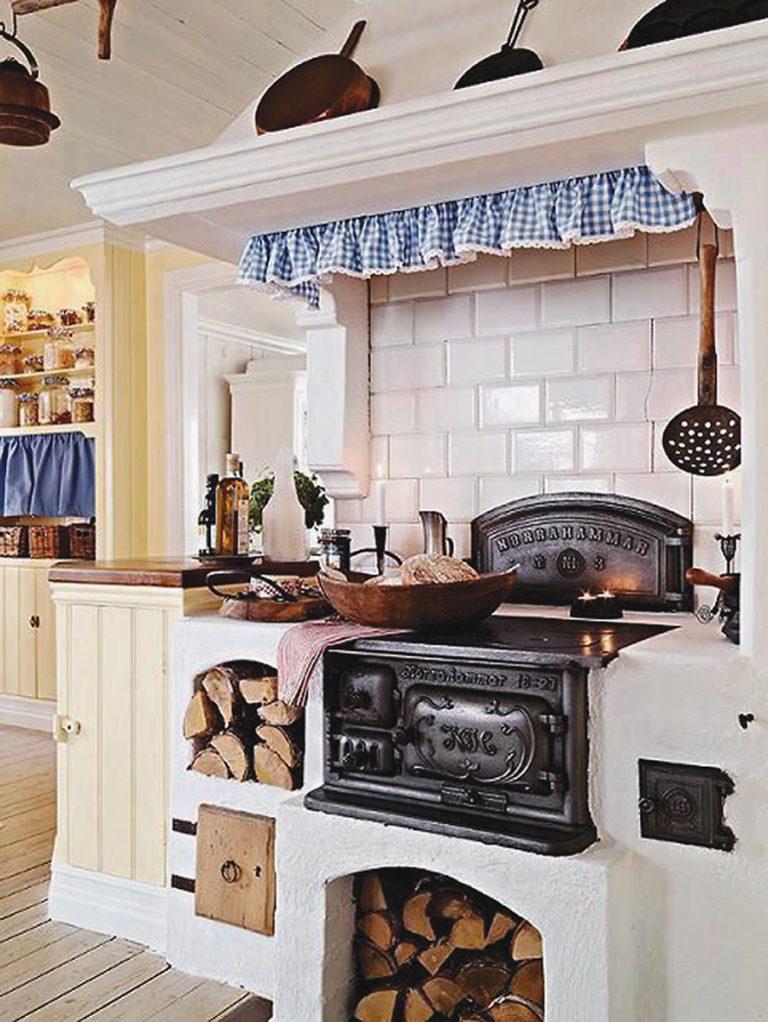 rusztikus konyha fa tüzelésű fözőlap