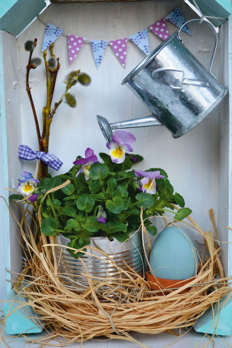 tavaszi kültéri dekoráció