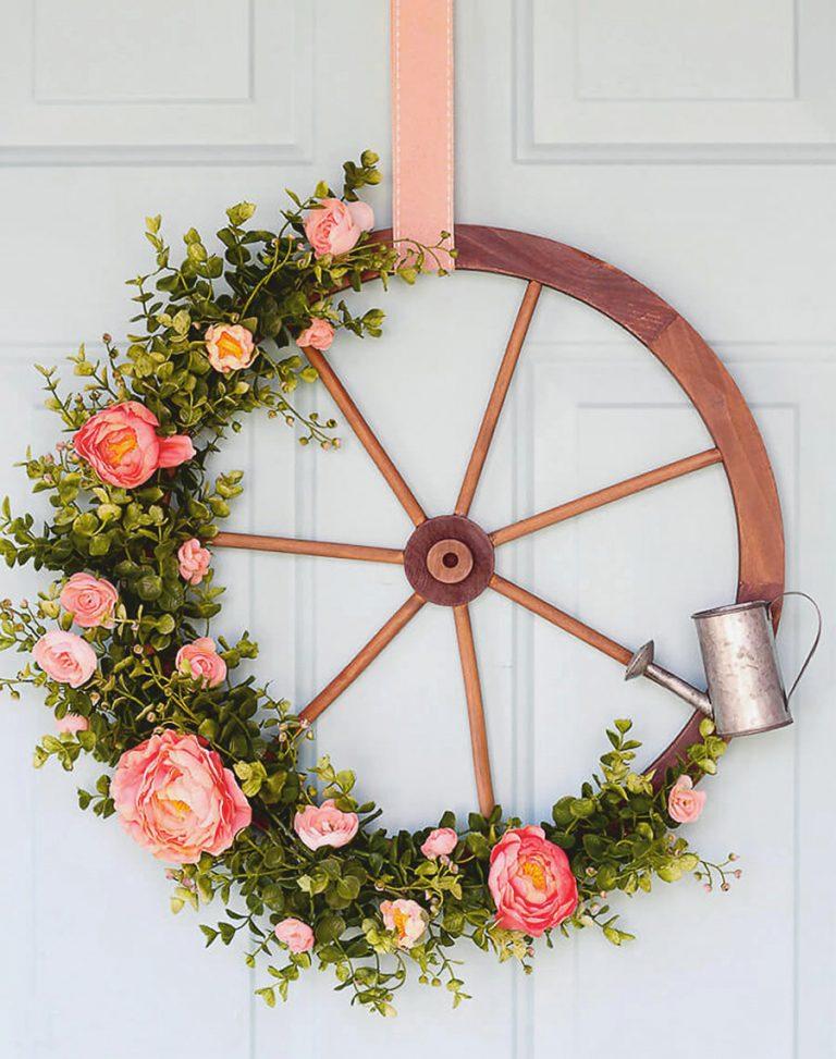 különleges tavaszi ajtódíszek