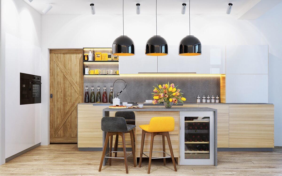 modern konyhai világítás