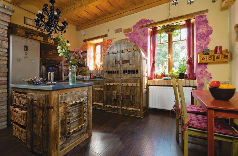 eklektikus rusztikus konyha