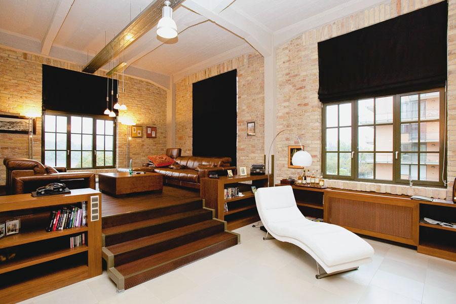 loft lakás nappali