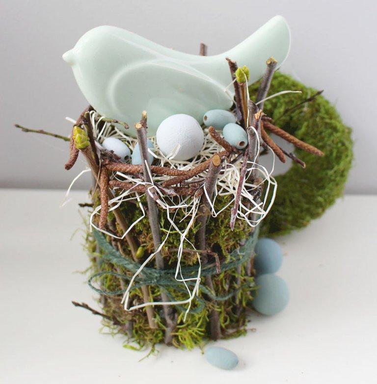 vintage húsvéti dekoráció