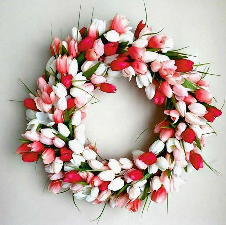 tulipánkoszorú