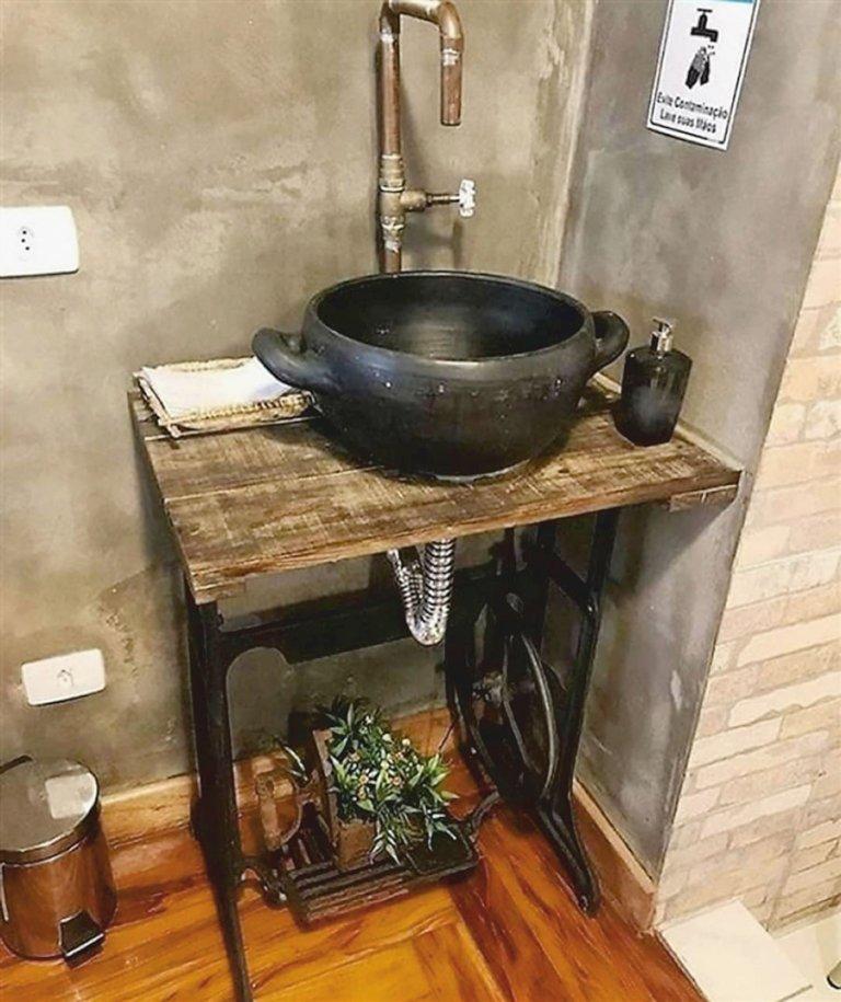 különleges mosdók varrógéplábból