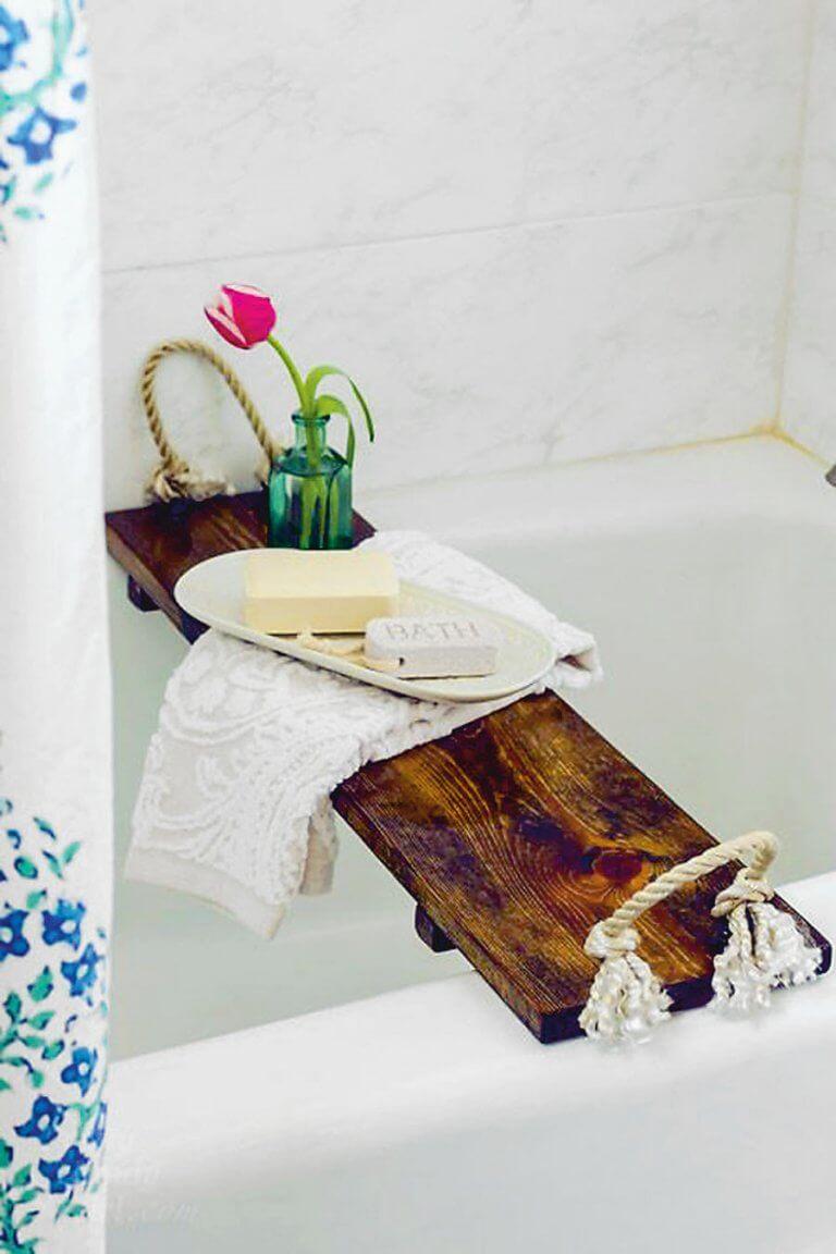 rusztikus fürdőkád tálca