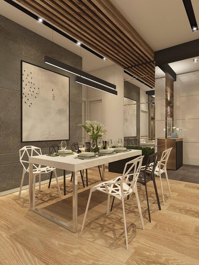 luxus penthouse - étkező