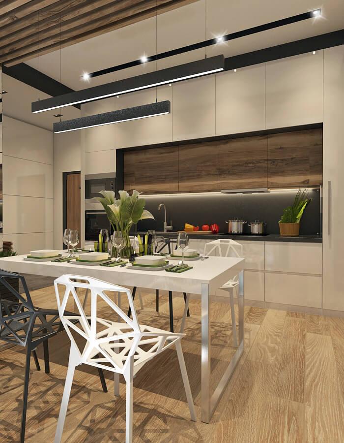 luxus penthouse - konyha