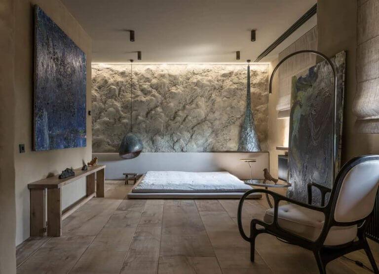 nádtetős ház - modern hálószoba