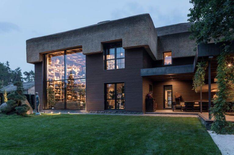nádtetős ház modern változatban