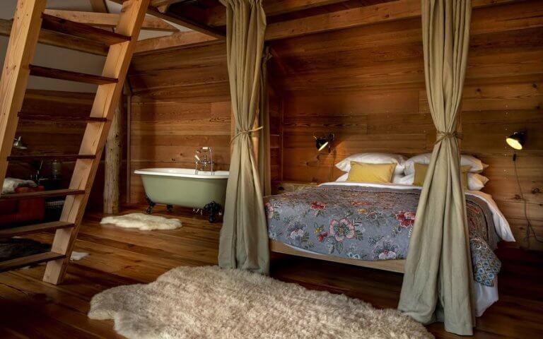luxus lombház - hálószoba