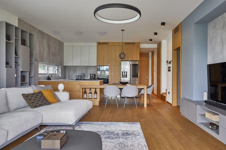 modern, letisztult lakás